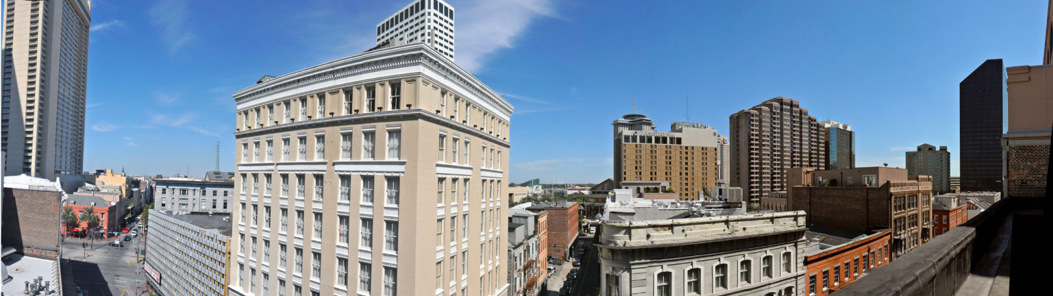 Panoramic of the top of Merchant Lofts
